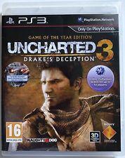 Uncharted 3 Drake's Deception: edición Juego del Año PS3 Pal UK Completo