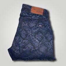 HILFIGER DENIM Natalie Cheney Paisley Blue Stretch Jeans W25 L 32 - BC3