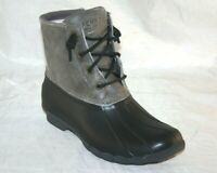 Sperry Women's Saltwater rain N duck boot STS81732 BLACK GREY MSRP $129 SIZE 10M