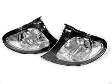 DEPO Euro Style Black / Clear Corner Signal Light Pair For 02-05 BMW E46 4D / 5D