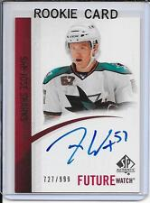 10-11 SP Authentic Tommy Wingels Future Watch Rookie Auto # 253