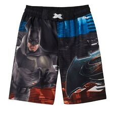 Batman vs Superman Photoreal Boys Swimsuit Trunks Boy Size 4 Swimwear NEW