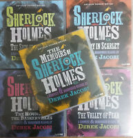 SHERLOCK HOLMES - 5 AUDIO BOOKS  VALLEY OF FEAR/STUDY IN SCARLET/BASKERVILLES