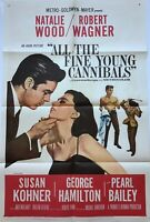 All The Fine Young Cannibals (1960) Original Movie Poster NATALIE WOOD