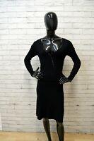 GUESS LOS ANGELES Donna Vestito Tubino Nero Taglia M Abito Dress Women's Black