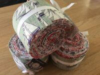 Nautical 100% Cotton Jelly Roll Bundle 24 Strips Ideal for Craft/Quilting/Sewing