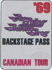 Flying Burrito Brothers 1969 Canadian Tour Backstage Pass Gram Parsons Byrds