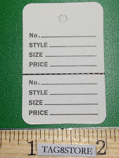 100 Printed Clothing Consign Perforated Unstrung Price Merchandise Store Tags