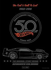 NEW Hot Wheels 50th Anniversary 1968-2018 40-Page Advanced Coloring Book