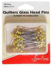 Sew Easy Quilters Glass Head Pins 45mm 100 Pins [ER308]