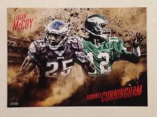 Randall Cunningham Lesean McCoy #ed to/99 5x7 2014 Topps Competitive Fire EAGLES