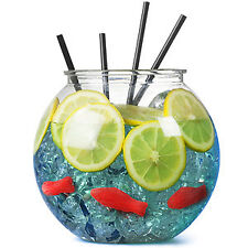 Plastic Cocktail Fish Bowl 3ltr, Party Drinking Fishbowl 185mm