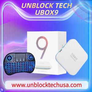 UNBLOCK TECH 2021 最新安博盒子第九代M2 GLOBAL TECH美國授權代理商UBOX9 PROMAX 4+64G Gen 9 TV BOX