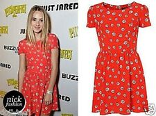 New with tags TOPSHOP Celebrity red daisy fit and flare dress UK 16  US 10 12