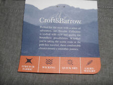 Men's New Size 44 Heather Brown Croft & Barrow Quick Dry Casual Shorts