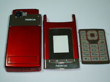 nokia n76 cover keypad  housing fascia set  red colour