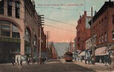 Postcard Main Street Looking West Johnstown Pa