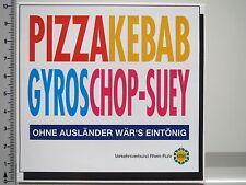 Pegatinas Alemania pluricultural-vrr-Pizza Donner kebap-chop suey (1992)