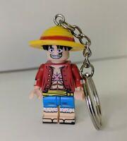 Luffy One Piece Anime Manga Minifigure Keychain Bag Clip Custom