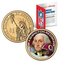 WASHINGTON REDSKINS NFL US Mint PRESIDENTIAL Dollar Coin with Certificate