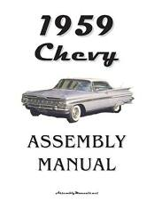 59 Impala Bel Air Chevrolet Factory Assembly Manual Loose Leaf UnBound 330 Pages