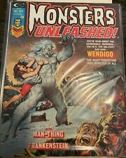 MONSTERS UNLEASHED MAGAZINE VOL 1 NO 9 December 1974-Man-Thing,Frankenstein-VG