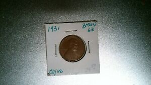 US COIN 1931 LINCOLN WHEAT PENNY BROWN