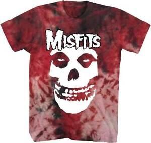 Misfits Fiend Face Logo Acid Wash Tie Dye Punk Rock Music T Shirt TS16210MSFM