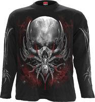 Spiral Direct SPIDER SKULL Long sleeve T-Shirt Skulls/Spider/Tribal/Metal/Gothic