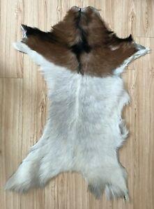 Real Goat Skin Hide Rug Throw Floor Chair Sofa Carpet Handmade Luxury Modern