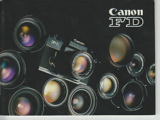 Manual de instrucciones notice d 'emploi Handbook Canon FD objetiva f18
