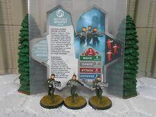 Heroscape Custom Sector 6 Infantry Dbl Sided Card & Figures w/ Sleeve Vydar