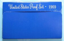 1969 UNITED STATES PROOF SET 5 COINS ORIGINAL U.S. MINT BLUE PACKAGING