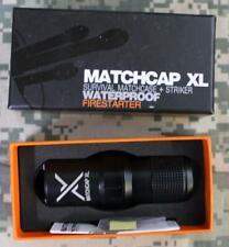 Matchcap XL 0012000-BLK Survival Matchcase + Striker Waterproof Firestarter NEW