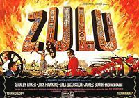 Zulu Movie Poster 1964 Stretched Art Canvas Print Battle War Rorkes Drift Film