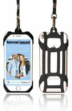 Universal 2 in 1 Lanyard & Card Holder, Cell Phone Tether Silicone Neck Strap