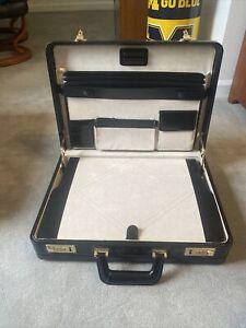 Hard side leather briefcase vintage, black leather briefcase