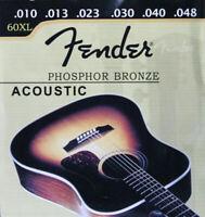 Jeu de cordes FENDER 60XL 10/48 phosphore bronze 0730060003 guitare acoustique