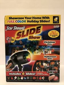 Star Shower Slide Show LED Includes Christmas & Halloween FACTORY SEALED