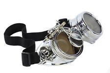Steampunk Victorian Skull Cross Welding Silver Goggles Scissors Lens Cosplay