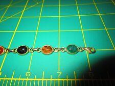 Vintage Sterling Scarab Bracelet
