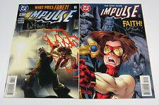 Impulse #13 & #14 Both Signed by Wayne Faucher! DC COMICS 1996 FLASH CW TV SHOW