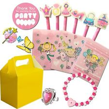 Pre Filled Girls Party Bags Yellow Box Ready Made Loot Birthday Gift Bags Favors