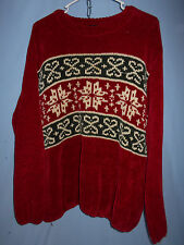 WOMENS UGLY CHRISTMAS SWEATER CREW CHRISTOPHER RADKO BELLEPOINTE LARGE