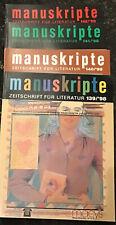 Manuskripte. Zeitschrift für Literatur Jahrgang 1998 (Hefte 139-142)