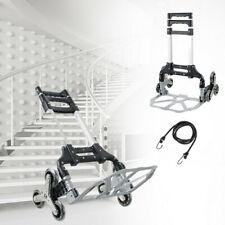 Portable Stair Climbing Folding Cart Climb Hand Truck 6 Wheels Dolly Adjustable