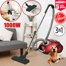 Vacuum Cleaner Hoover 1000W Compact Cyclonic Bagged Cylinder HEPA Vac A++