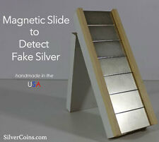 Magnetic Slide to Detect Fake Silver Coins (Silver Test)