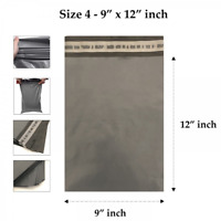 "9 x 12"" Grey Mailing Bags Strong Parcel Postage Plastic Postal Poly Self Seal"