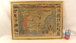 Antique 1579 Hispaniae Nova Describtio Map Spain & Portugal